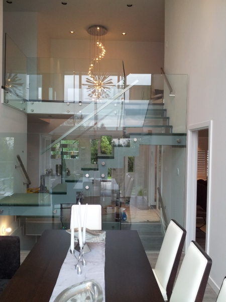 Glass Stairs side supports