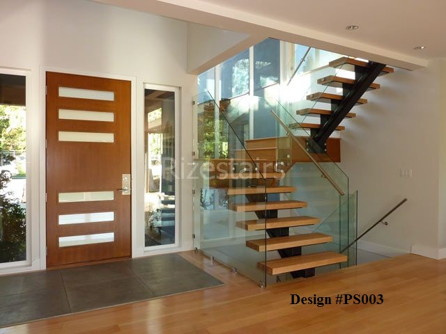 Custom Designed Stairs. Mono Stringer Stairs Modern Staircase